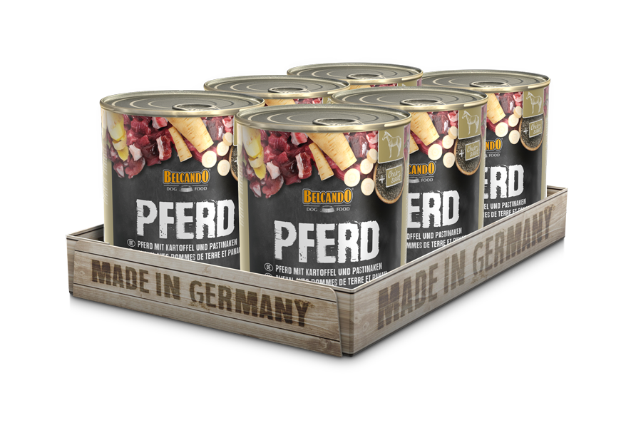 BELCANDO® Pferd mit Kartoffel & Pastinake (6 x 800 g)