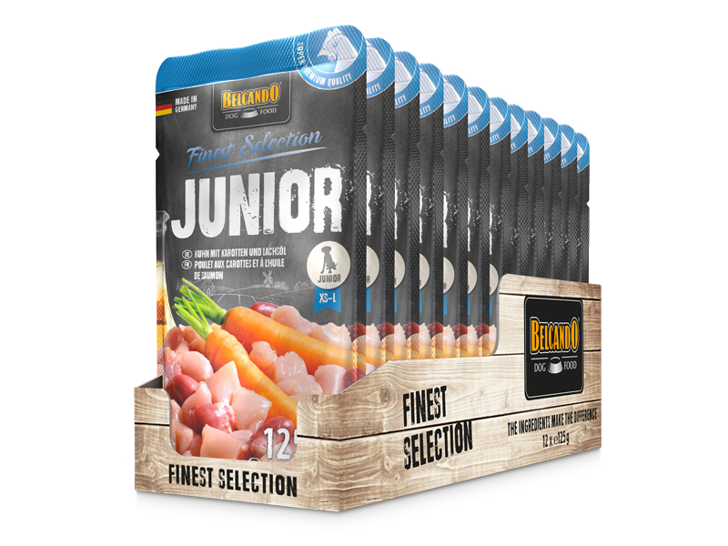 BELCANDO® Junior Huhn mit Karotten (12 x 125 g)