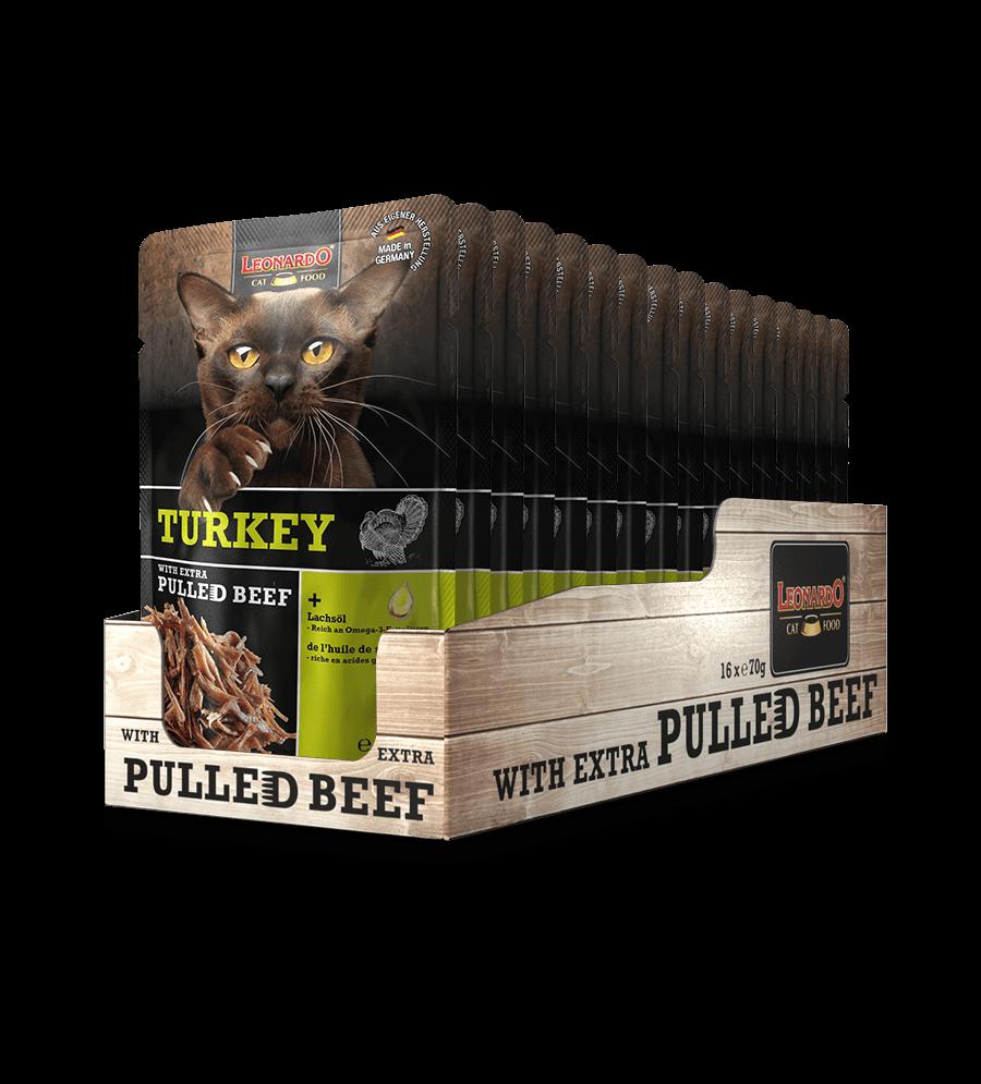 LEONARDO® Turkey + extra pulled Beef (16 x 70 g)